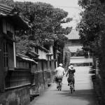 江戸屋横町_モノクロ自転車