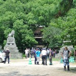 ロケ風景_志都岐山神社